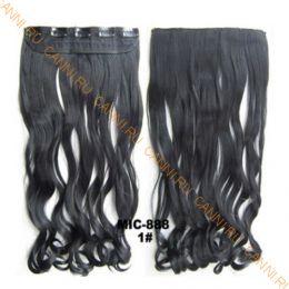 Искусственные термостойкие волосы на заколках на трессе волнистые №001 (55 см) - 1 тресса, 100 гр.