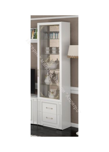 Шкаф для посуды Виктория Белый глянец