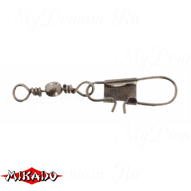 Застежка с вертлюжком Mikado Interlock № 16.  тест 8 кг. (12 шт.) фас.=10 уп., упак