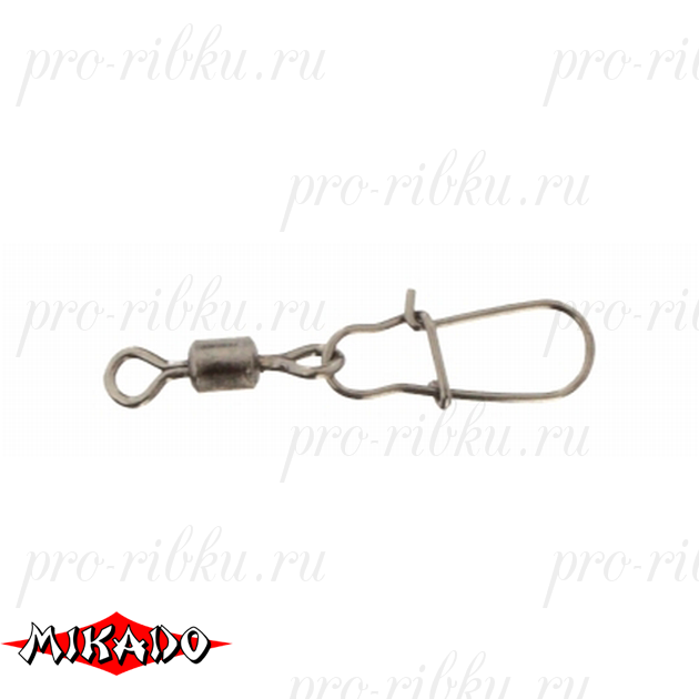 Застежка с роликовым вертлюжком Mikado Fastlock № 14.  тест 4 кг. (12 шт.) фас.=10 уп., упак