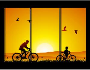 Модульная картина Велосипедная прогулка