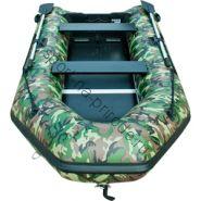 Лодка JET! надувная, модель SYDNEY 370 PL, цвет зеленый камуфляж