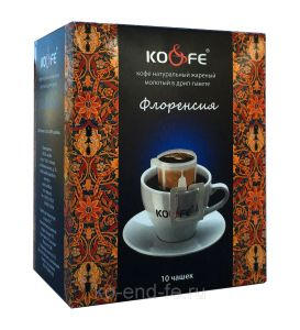 Кофе Флоренсия натуральный молотый в дрип-пакетах (8 шт. по 8 г)