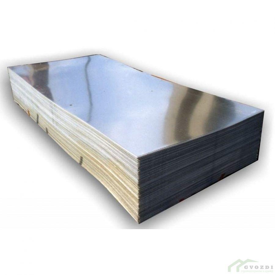 Плоский лист оцинкованный 1250 мм, длина - 3,0 метра, толщина - 0,3 мм