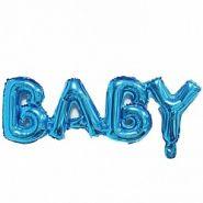 """Надпись """"Baby"""", синий, 32""""/ 81 см, Китай"""