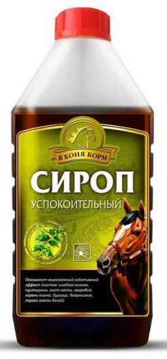 """Сироп успокоительный """"В коня корм"""" 1 литр"""