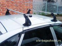 Багажник на крышу на Ладу Приору (Атлант, Россия), алюминиевые дуги