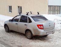 Багажник на крышу на Lada Granta (Атлант, Россия), алюминиевые дуги