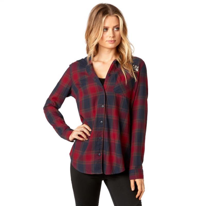 Fox - Deny Flannel Dark Red рубашка женская, красная