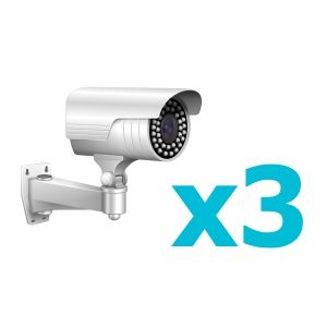 Комплект видеонаблюдения для 3 камер