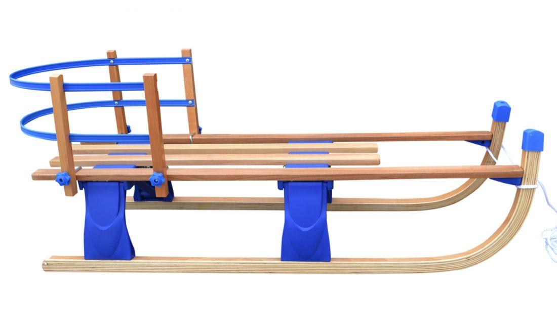 """Детские складные деревянные санки со съемной спинкой Small Rider Fold Compact"""""""