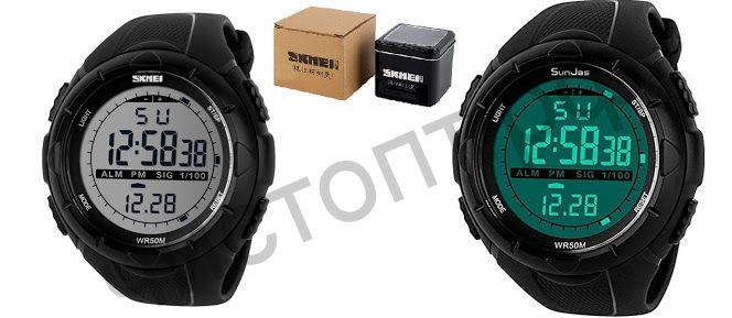 Часы наручные Skmei 1025 подсветка ,таймер , будильник Высокое качество Водонепроницаемые !
