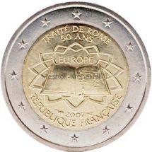 Франция 2 евро 2007 Римский договор