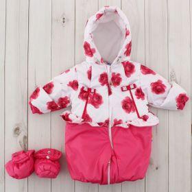 Трансформер для девочки, рост 62 см, цвет розовый, принт розовые розы 134т_М