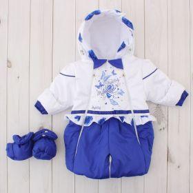 Трансформер для девочки, рост 62 см, цвет белый/синий 109п_М