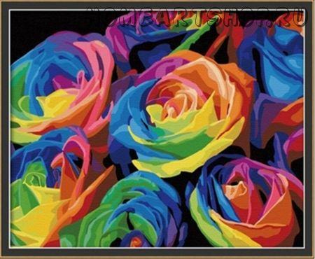 """Раскраска по номерам """"Розы"""""""