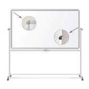 Доска магнитно-маркерная BRAUBERG 2-стр, 60×90 см, передвижн, улучшенная алюм. рамка 231717