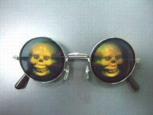 """Очки с голограммой """"Череп"""""""