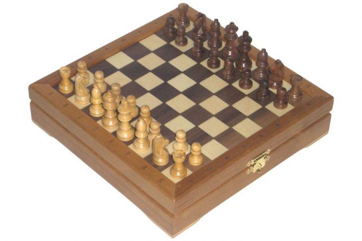 """Мини-шахматы деревянные (высота короля 1,75"""")"""
