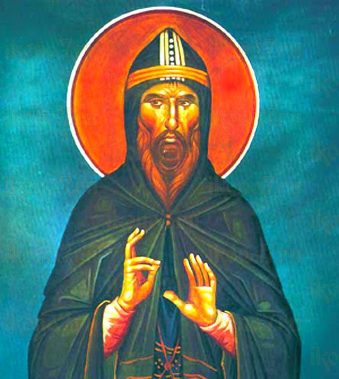 Лука Елладский (рукописная икона)