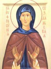 Евфросиния Суздальская (икона на дереве)