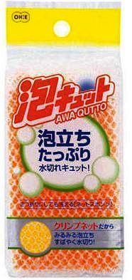 507021 Губка для мытья посуды с покрытием - сеточкой, 1шт/упак