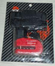 Замок диск. тормоза HC309 красный D-5.5мм с чехлом