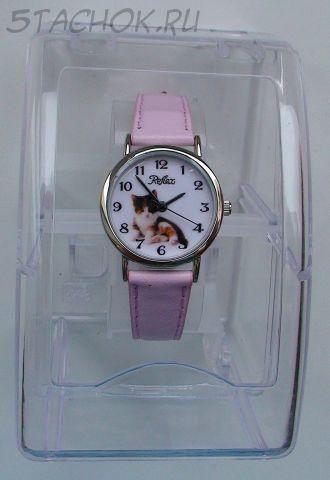 """Часы для девочки """"Котик-2"""""""