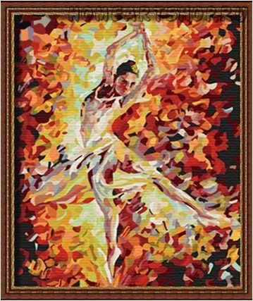 "Картина по номерам ""Балерина"" 30х40"