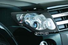 Защита фар Egr, прозрачная с окантовкой под карбон