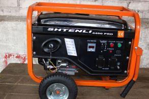 Бензогенератор 4400 pro-s( 4,2 кВт) с электостартером с колесами,ручки ,выход на 8 и 12 ампер.