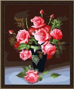 """Раскраска по номерам """"Букет роз"""""""