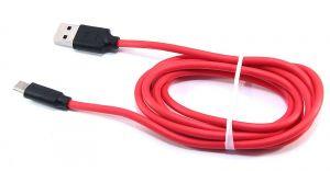 Кабель USB Hoco Type-C X11 с поддержкой быстрой зарядки 5A (1,2 метра) (black-red)