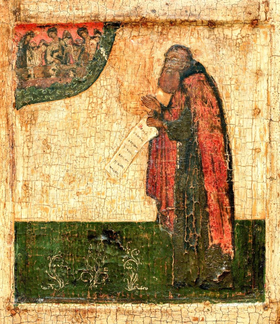 Икона Александр Свирский (копия 16 века)