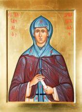 Александра Дивеевская (икона на дереве)