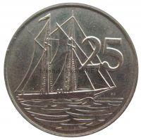 Каймановы острова 25 центов 1987 г.