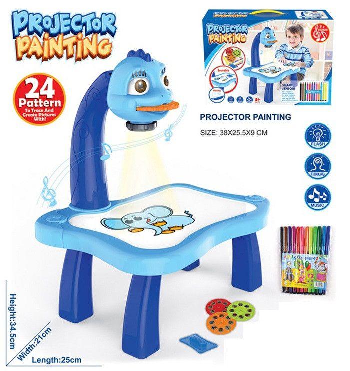 Детский Проектор Для Рисования Со Столиком PROJECTOR PAINTING, Голубой