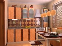 """Кухня Пластик """"Александрия-2"""" с пеналом и ящиками!  2,0м."""
