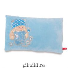 Подушка Зайка Ми голубая