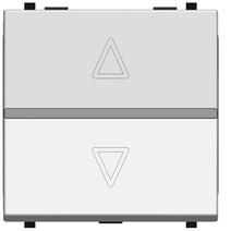 Мех. электр. выкл. жалюзи, 700 ВА, 2-мод., ABB Zenit альп. белый