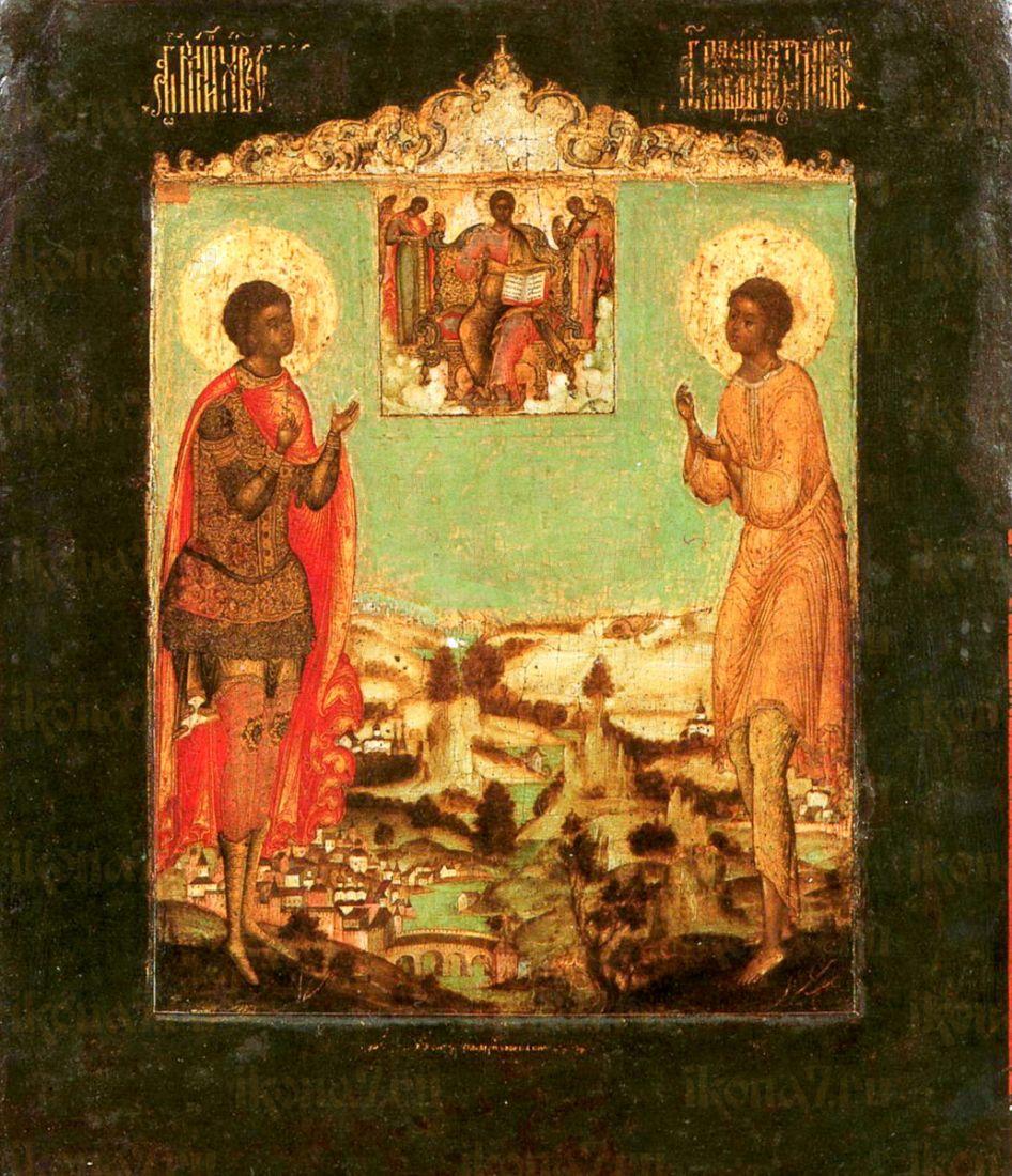 Икона Артемий Веркольский и мученик Уар (копия 17 века)