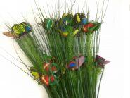 Ветка осока с бабочками искусственная