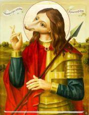 Икона Христофор Псеглавец