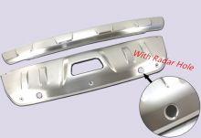 Накладки на бампера, cnt4x4, матовая сталь, а/м до 12/2018