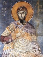 Икона Феодор Тирон (копия старинной)