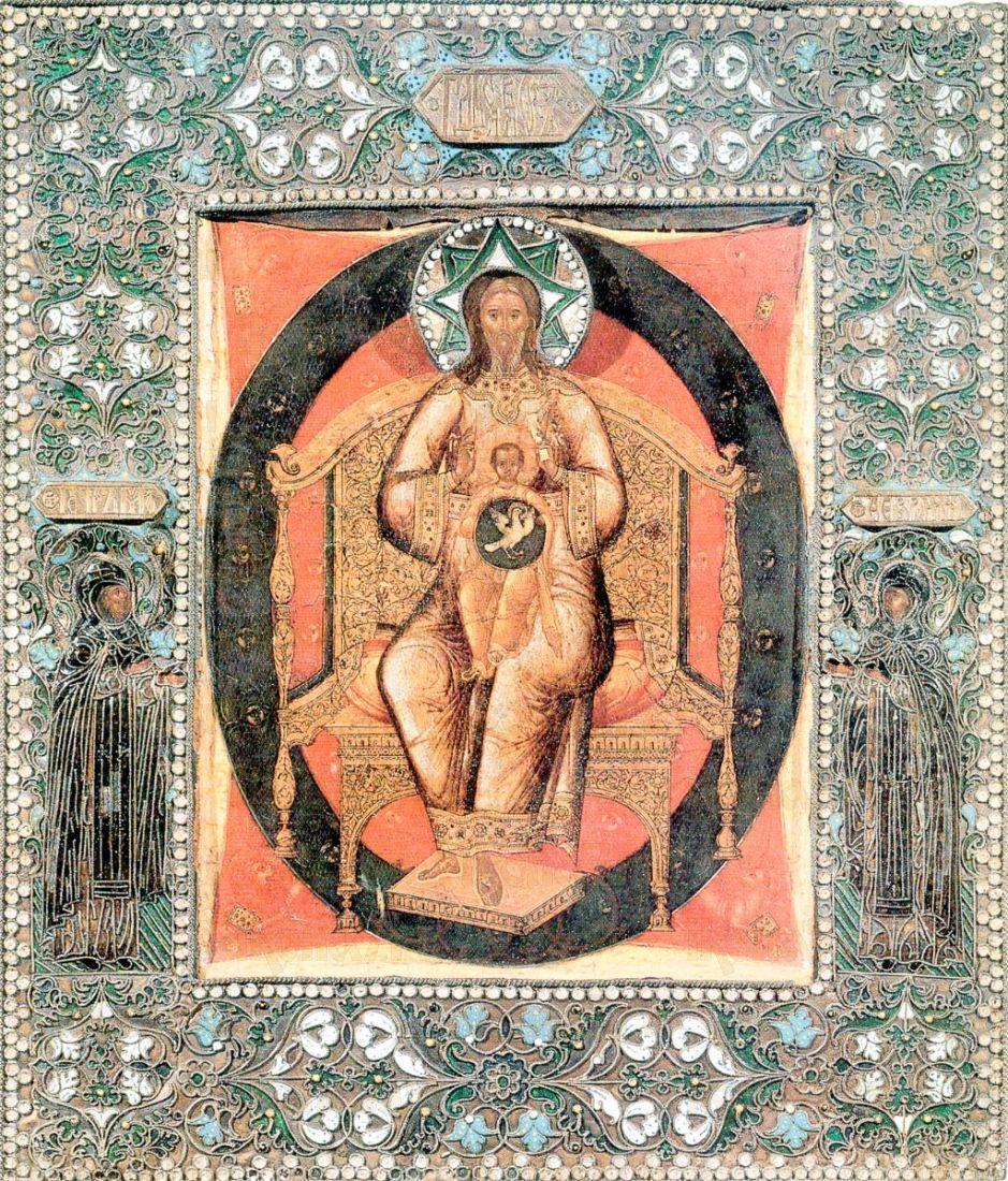 Новозаветная Троица - Отечество (копия иконы 19 века)