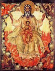 Икона Новозаветная Троица - Отечество (копия старинной)