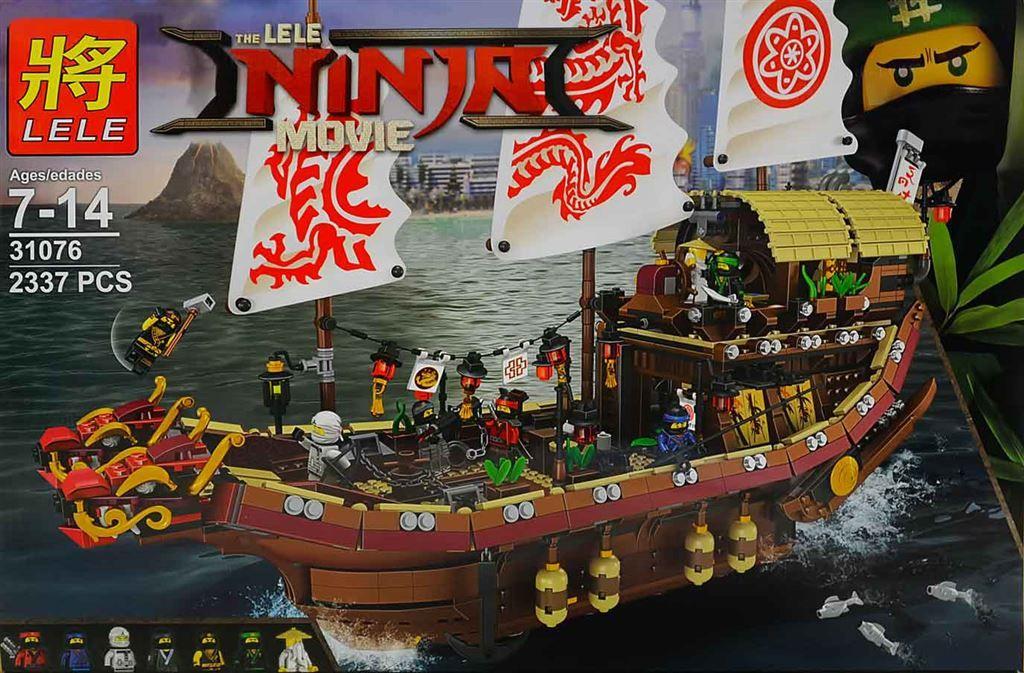 """LELE NINJA""""Летающий корабль мастера ВУ"""" 2337 деталей NO.31076"""