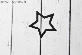Вырубка звездочка - контур 6,2 см