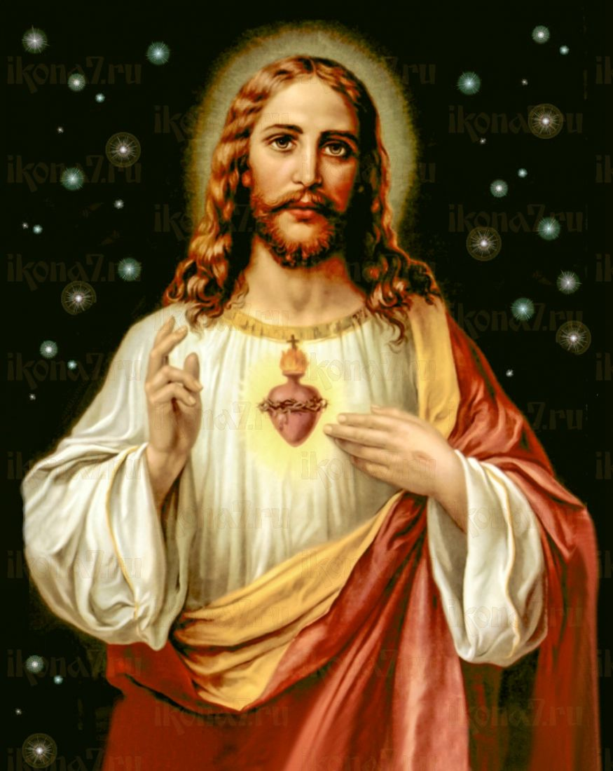 Сердце Иисуса Христа (икона на дереве)